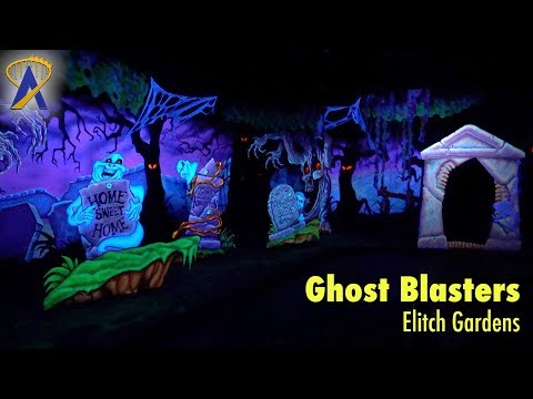 Ghost Blasters interactive dark ride POV at Elitch Gardens
