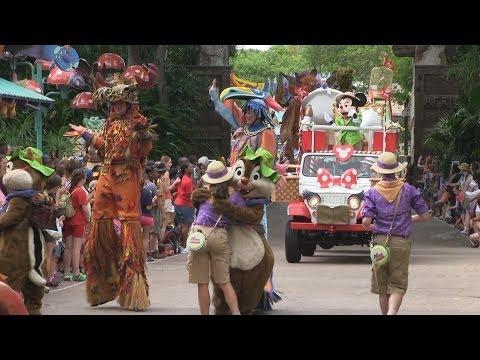 Final performance of Mickey's Jammin' Jungle Parade at Disney's Animal Kingdom