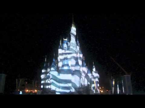"Full ""Celebrate the Magic"" castle projection show at Disney's Magic Kingdom"