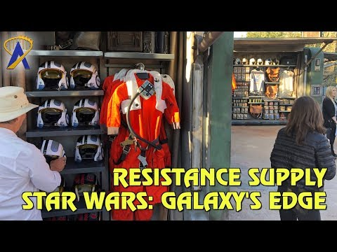 Resistance Supply merchandise carts in Star Wars: Galaxy's Edge