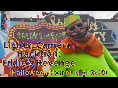 Lights Camera Hacktion: Eddie's Revenge Scare Zone at Halloween Horror Nights 2021