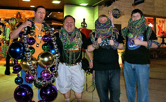 These guys appeared to have overdosed in the Mardi Gras spirit with these abundance of beads.