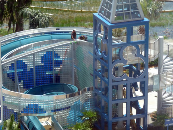 Bay Lake Tower pool construction