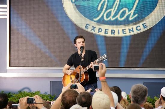 Kris Allen performs at Walt Disney World