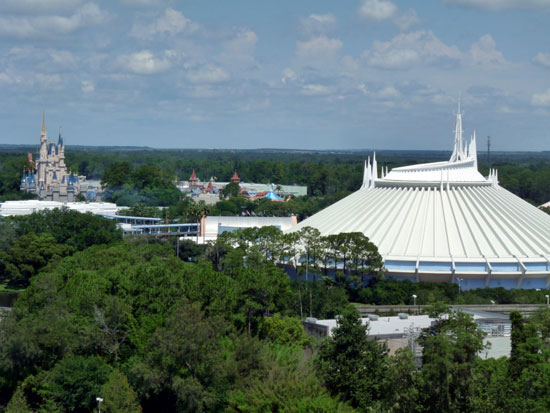 Bay Lake Tower View of Space Mountain