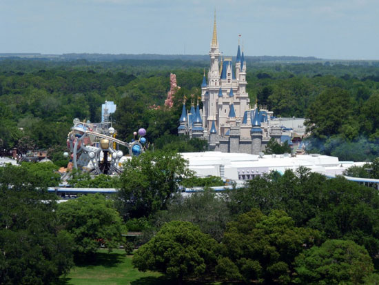 Bay Lake Tower view of the Magic Kingdom