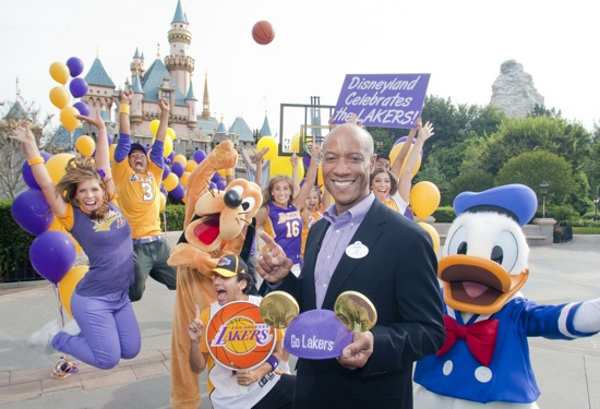 Lakers Celebration at Disneyland