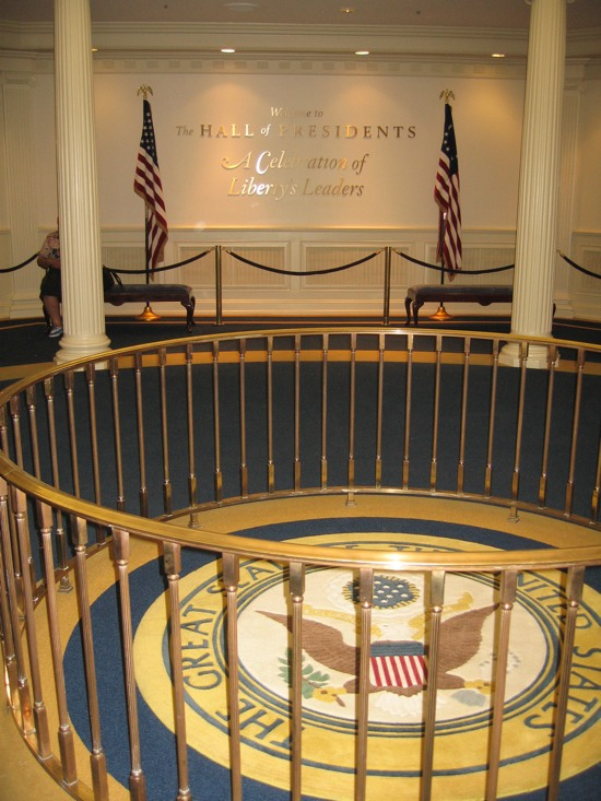 Hall of Presidents lobby