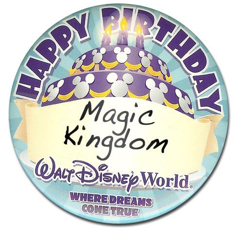 Walt Disney World birthday button