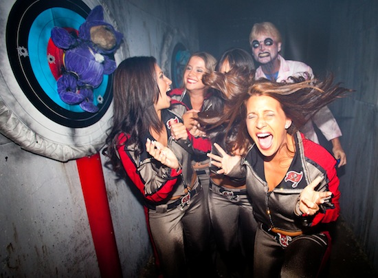 Video tampa bay buccaneers cheerleaders get scared at - Busch gardens florida resident pass ...