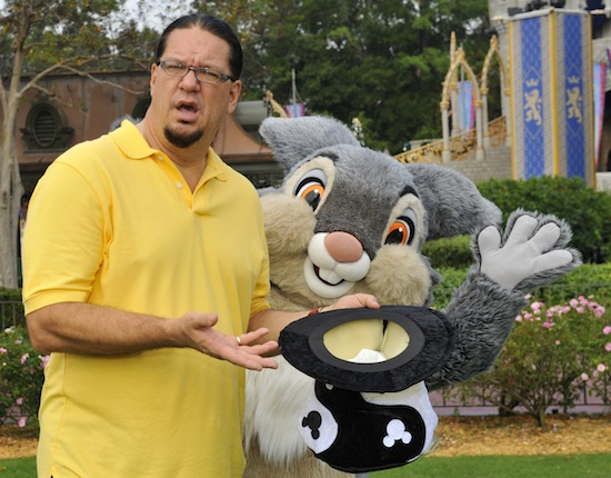 ILLUSIONIST PENN JILLETTE AT WALT DISNEY WORLD