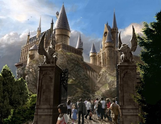 Hogwarts Castle entrance and exterior