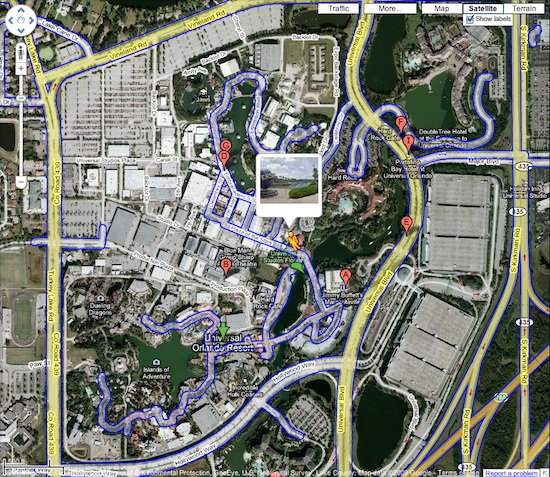 Orlando Florida Map Google.Google Street View Now Available For Universal Orlando Attractions