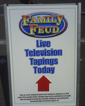 Family Feud now taping at Universal Studios - A report from