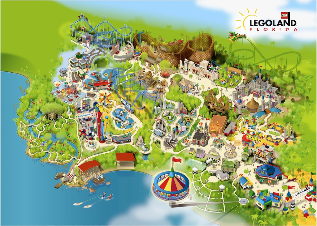 Aerial look at Legoland Florida's construction progress ...