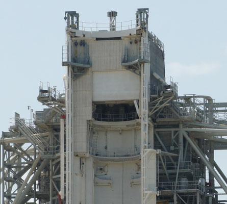 Empty rocket launch pad