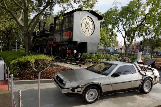 BTTF Delorean and Train Universal Studios Hollywood