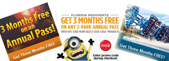 Parksaver Receive Three Months Free With Annual Pass Purchase At Busch Gardens Seaworld And