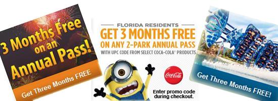 Busch Gardens Seaworld Annual Pass Florida Residents