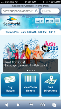 New Mobile Websites For Seaworld And Busch Gardens Allow