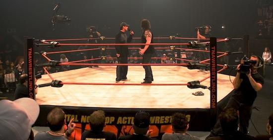 TNA Wrestling ring orlando impact zone sting