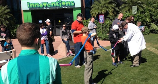 Coaster Crafters outside Innoventions at Epcot for engineers week