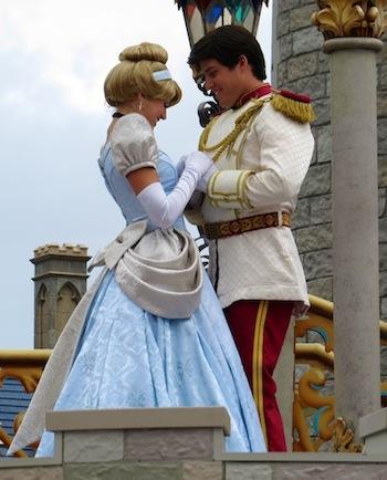 Cinderella and Prince Charming on Cinderella stage