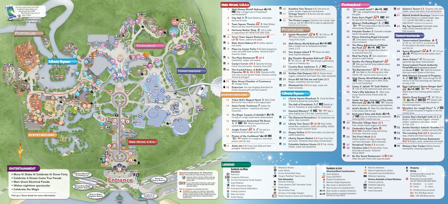 Disney Park Guide Maps Get A Makeover New Design Aligns With