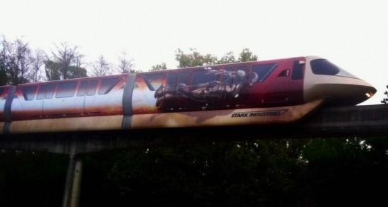 iron man 3 wrapped monorail