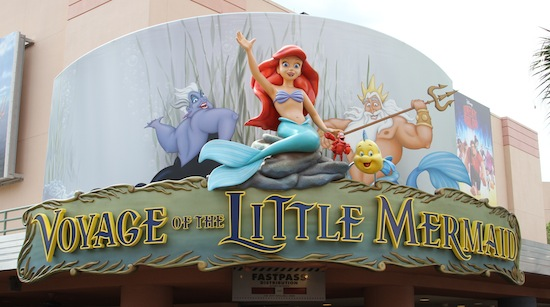 Voyage of The Little Mermaid sign