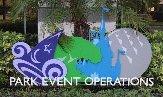 Disney's Park Event Operations sign.