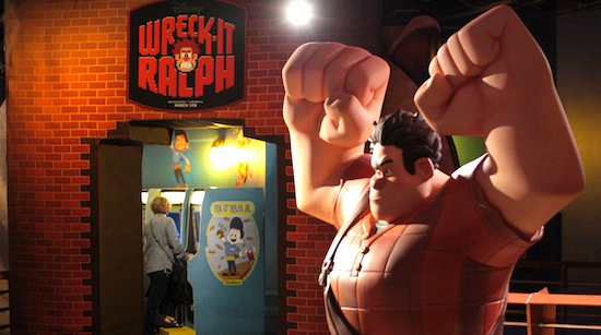 Wreck-it Ralph statue at DisneyQuest.