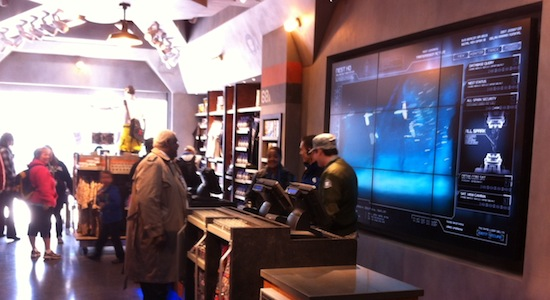Inside of the Transformers gift shop at universal studios florida.