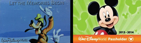 New and old Disney World annual passes