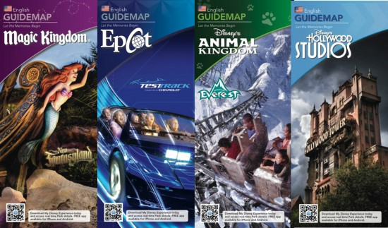 All four new disney park maps for 2013