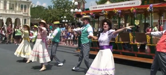 spring, trolley show, show, entertainment, magic kingdom, disney world