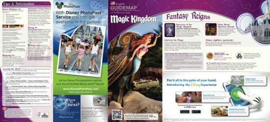 Magic Kingdom map side one