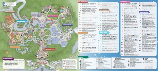 magic kingdom map inside