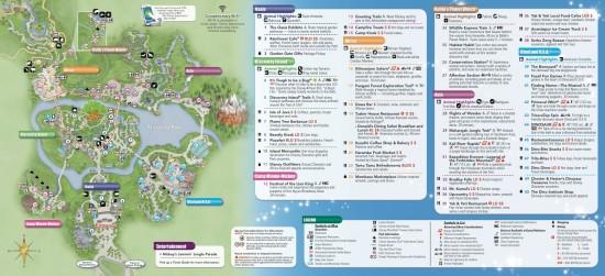 Animal kingdom map inside