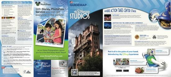 Disney's Hollywood Studios map outside