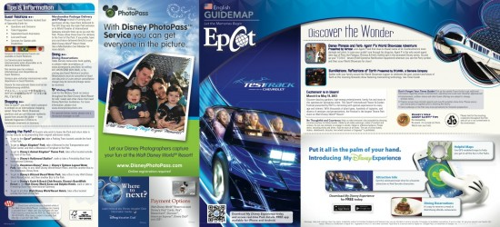 Epcot guide map outside