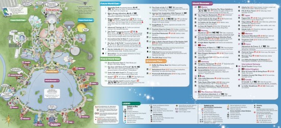 Epcot guidemap inside