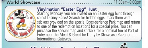 Limited Time Magic, Easter Egg, Epcot, Times Guide, Vinylmation