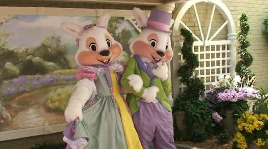 Mr. and Mrs. Easter Bunny at Disney World