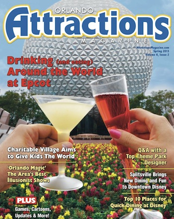 Orlando Attractions Magazine Spring 2013 issue cover