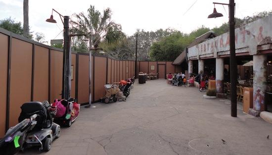 Avatar construction at Disney's Animal Kingdom