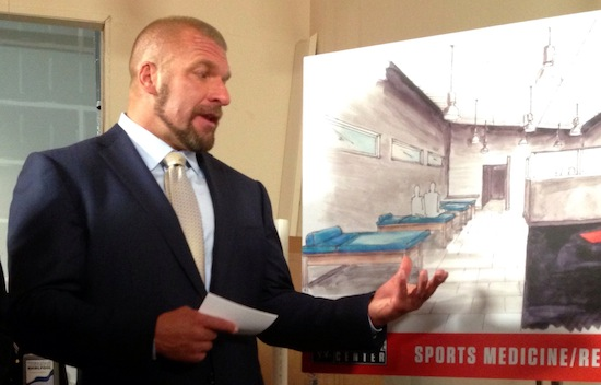 Triple H showing off plans for WWE performance center