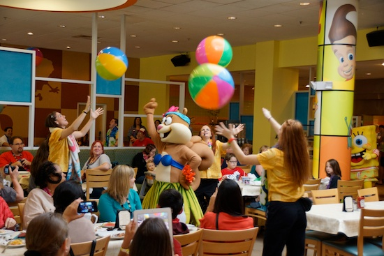 Bikini Bottom character breakfast at Nick Hotel