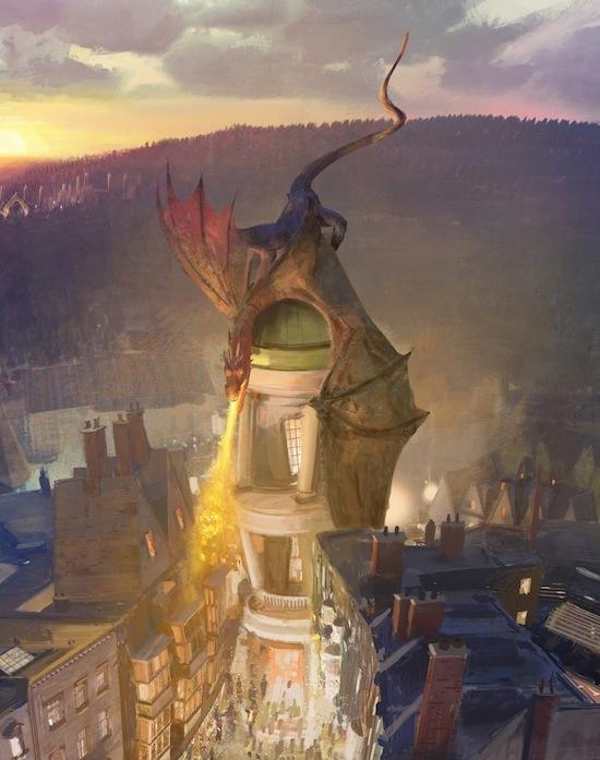 Wizarding World of Harry Potter expansion concept art gringotts bank