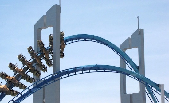 Gatekeeper coaster going through the keyhole